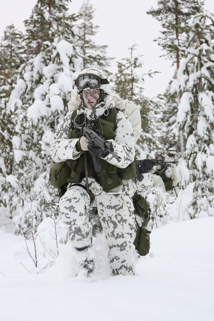 Finnish winter camouflage has to be the best around. If there's one thing the fins know, it's winter.