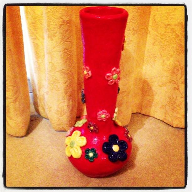'Flower Power' vase for Tegan