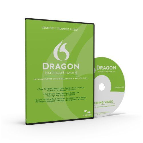 Dragon 11 Training DVD: This video collection provides an introduction to the user interface, menus, toolbars, concepts and techniques needed to master speech recognition. The Dragon product experts from Nuance teach you the essential skills you need to succeed with Dragon. Focused lessons put an expert instructor at your side. You can learn at your own pace and get specific answers and solutions immediately, whenever you need them.