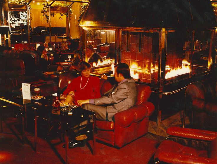 #tbt Before the renovation in 1999 our Lobby bar was located around a fireplace where our conference room Gripsholm is located today. The Lobby Lounge was with its international atmosphere a hot spot for the Jet Set in Stockholm. Tequila Sunrise was a popular drink at the time.