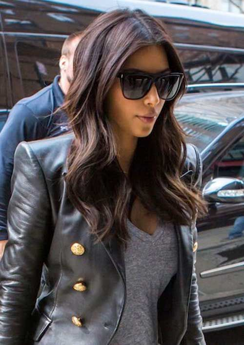 dark hair styles with highlights 25 best ideas about medium hairstyles on 6581 | 138cf1987415475f25d35049a6581a3d kim kardashian haircut kim kardashian hairstyles