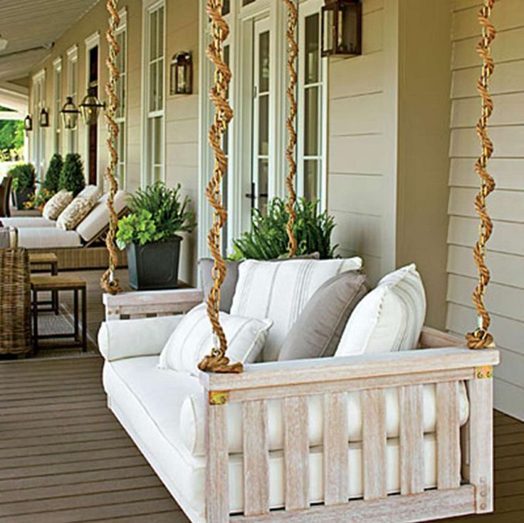 Porch Swings Design Ideas ~ http://www.lookmyhomes.com/enjoy-the-warmth-of-the-family-along-with-porch-swings/