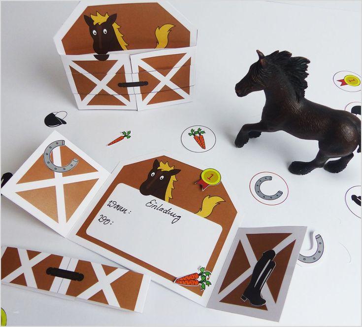 einladungskarte pferd einladung kind pferd einladung