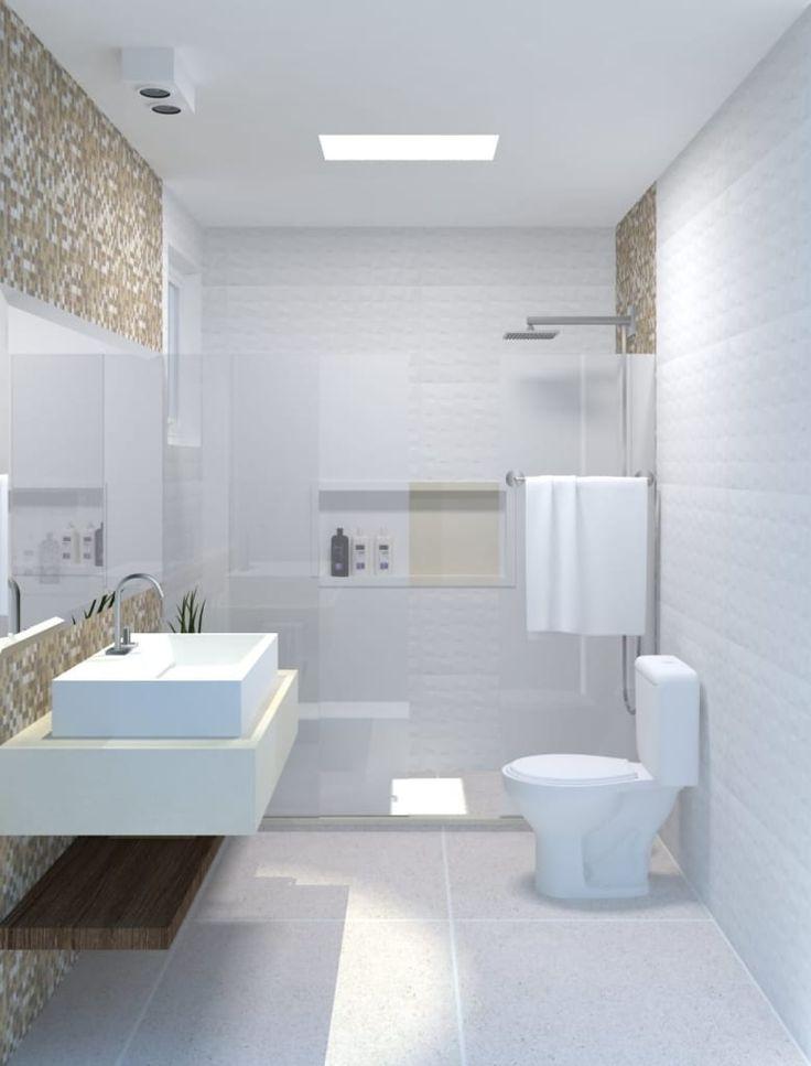 Navegue por fotos de Banheiros modernos: Banheiro 01. Veja fotos com as melhores ideias e inspirações para criar uma casa perfeita.