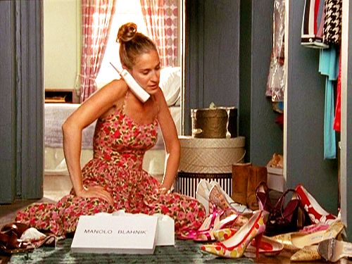 Carrie and her shoes :) #satc
