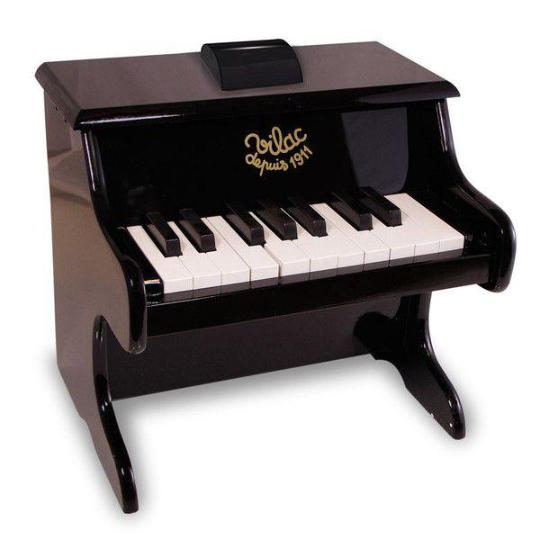 Vilac klaver i træ, sort