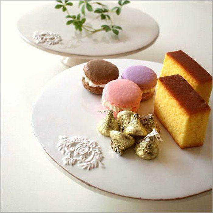 陶器のケーキスタンド2カラー