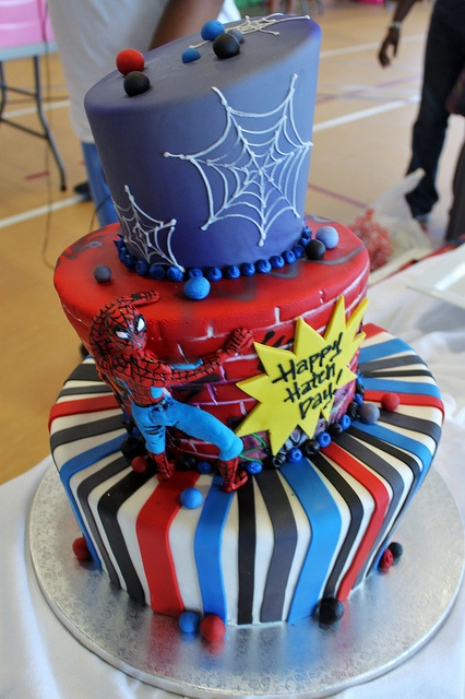 Spiderman tiered by Alliance Bakery, via Flickr