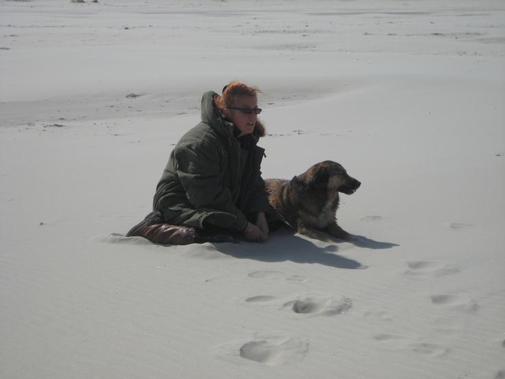 mn grote vriend Palang en ik, uitwaaien op het strand van Terschelling