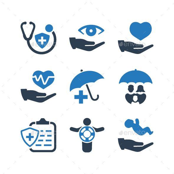 Health Insurance Icons Blue Version Health Insurance Best Health Insurance Health Icon