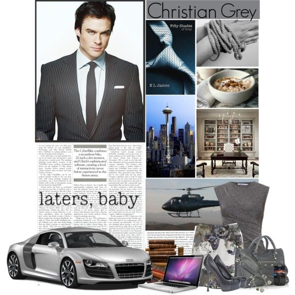 """Ian Somerhalder as Christian Grey"" by dfashongrl on Polyvore"