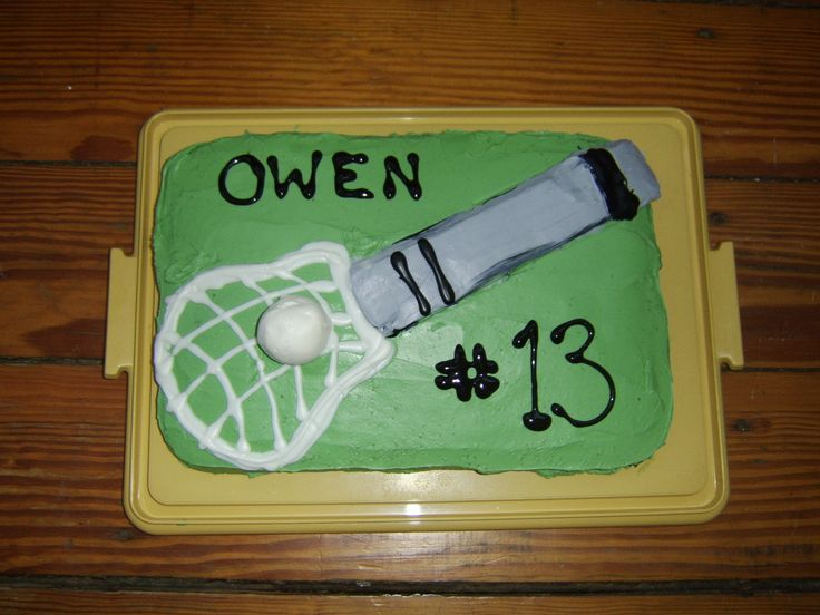 For Owen the Lacrosse Star!
