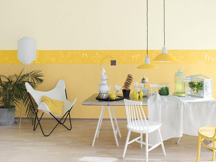 Optymistyczne kolory wprowadzają do otoczenia radość i pozytywną energię. Połączone z bielą sprawiają, że wnętrze staje się bardziej przestronne i rozświetlone. / Tikkurila Color Now - paleta FIZZ (żółcienie)