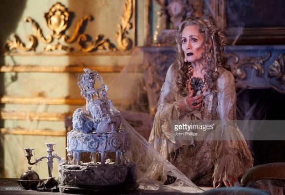 Paula Wilcox as Miss Havisham attends