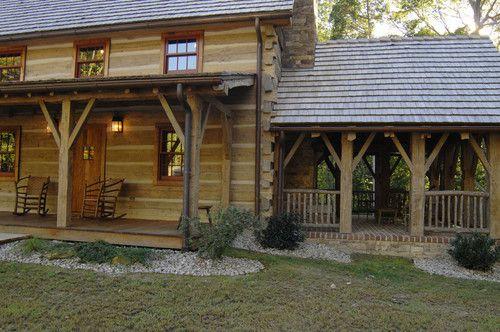 Central Kentucky Log Cabin Primitive Kitchen tradi…