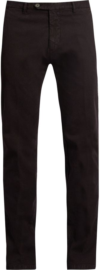 J.W. BRINE James slim-leg stretch-cotton jacquard trousers