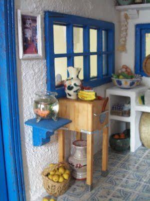 Sabs Mini Interiors.  This woman has multiple mini houses (greek house, french house) that she decorates to the hilt with teeny tiny interior details. @Tamara Walker Walker Walker Ferguson @Esther Aduriz Aduriz Aduriz Lau