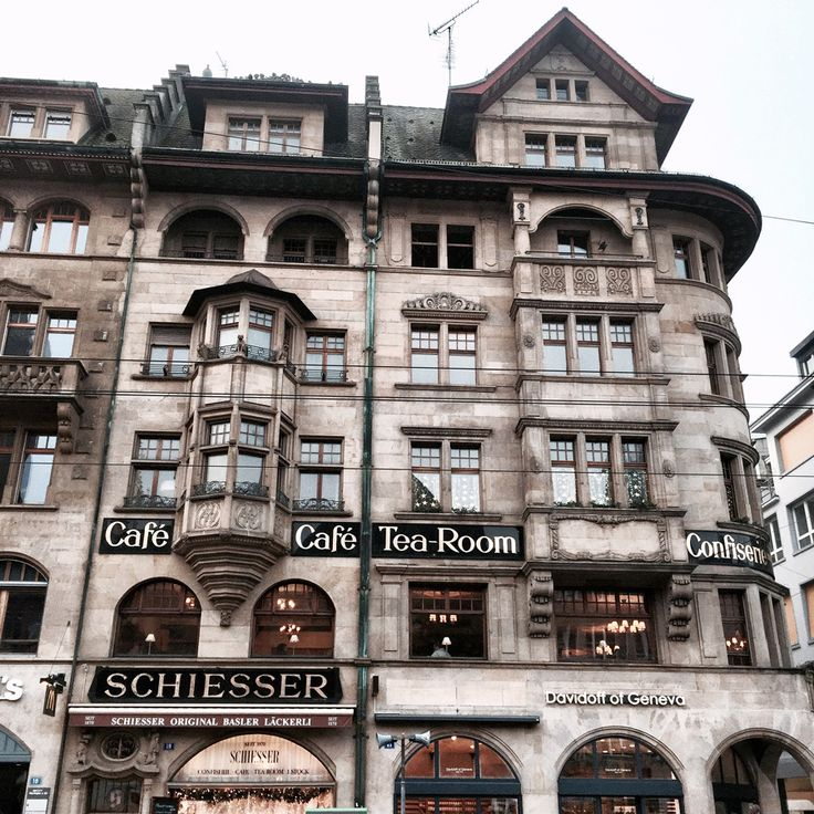basel switzerland europe winter architecture grandeur facades street view cafe tea room palace