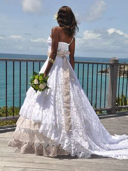 Robe de mariée antillaise