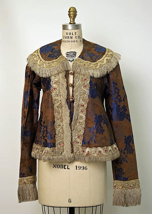 Jacket Date: second half 19th century Culture: Russian Medium: silk, metal, cotton