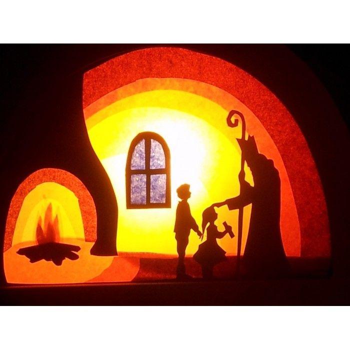 Transparant, Sint Nicolaas voor in de de Noest Silhouetlamp