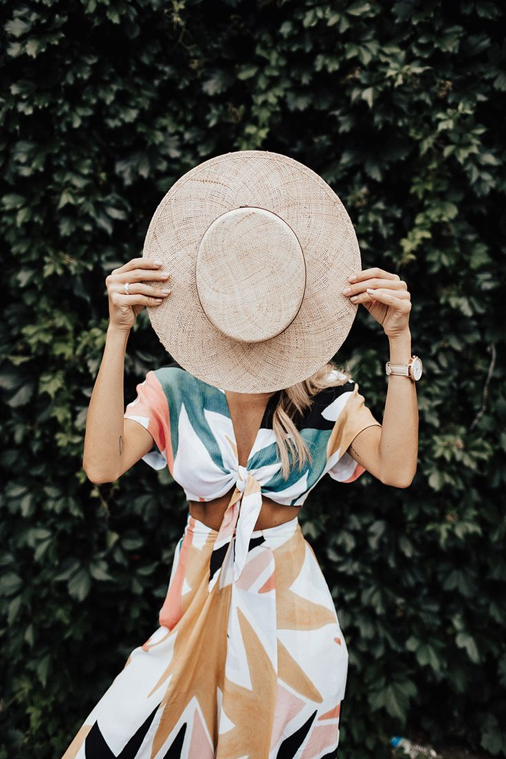 straw hats and dresses