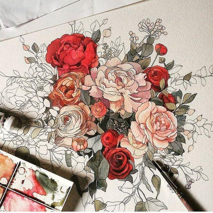 """Постеры  Дизайн  Интерьер (@roommy.ru) on Instagram: """"Волшебное пятничное вдохновение от @bezra_ . Детали, стиль и цвета каждой работы Александры можно…"""""""