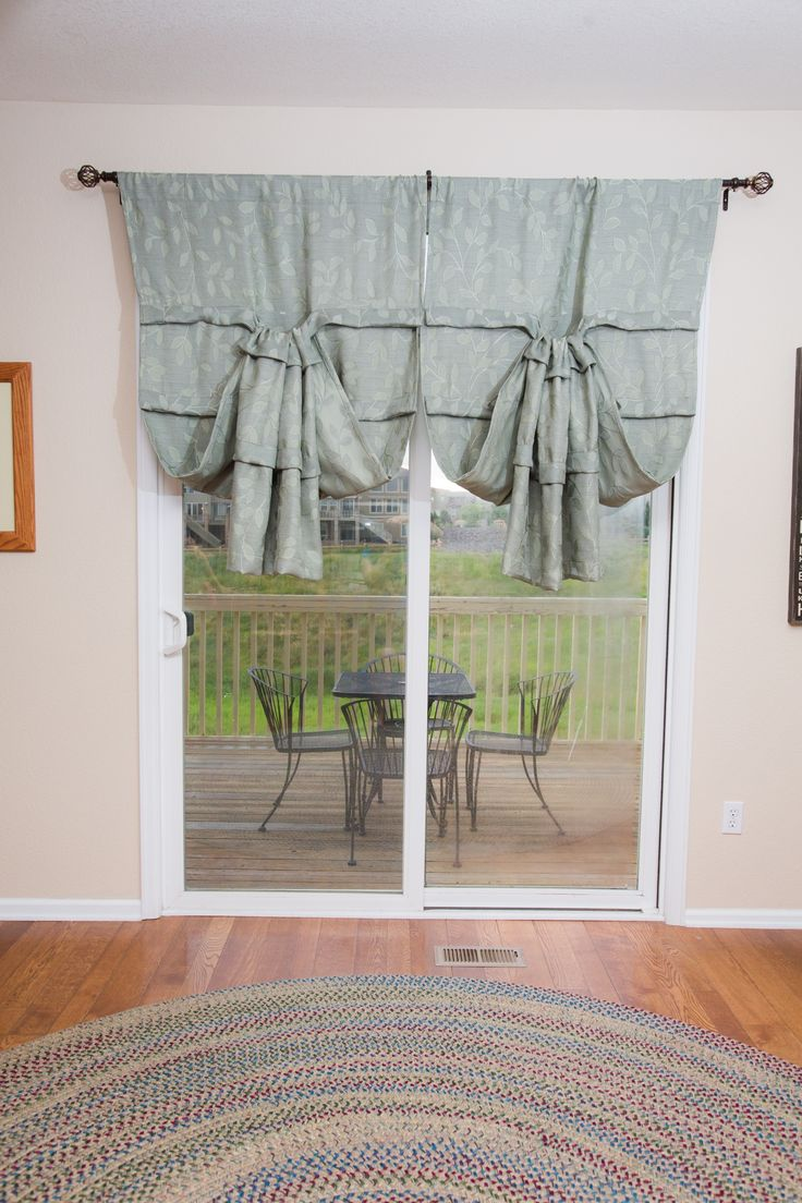 Versatile Sliding Glass Door Curtain It's A Shade And Curtain All In One!  Installs On