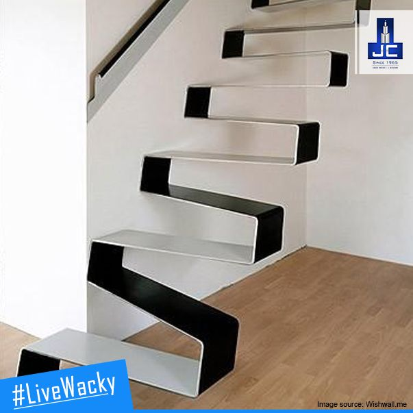 Want to have an amazing #LiveWacky lifestyle? Check this incredible rippling ribbon staircase that would suit the living area of your home.