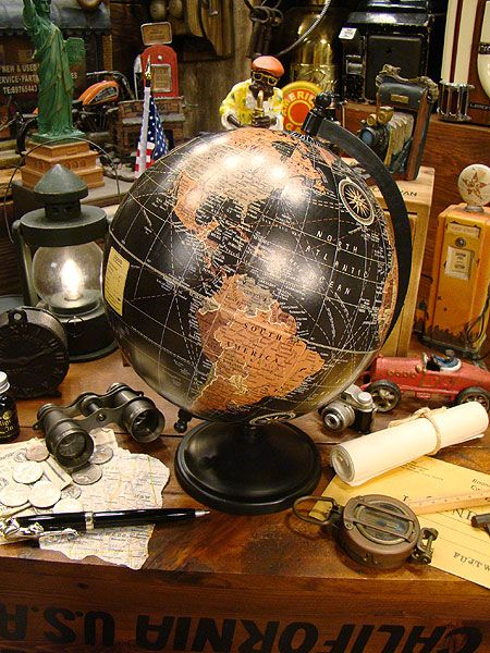 アンティークグローブ ブラックオーシャン 地球儀販売 アメリカ雑貨のテーマパーク!キャンディタワー