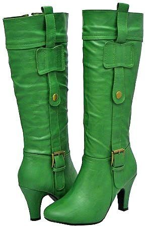 kelly green boots. You might be a leprechaun in these...but itd be worth it.