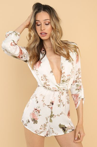 Botanical Beauty Romper - White