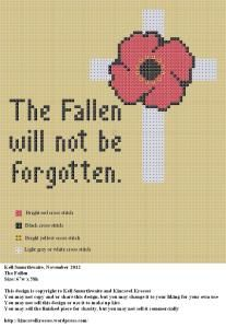 The Fallen will not be forgotten.  Wonderful way to honour the fallen.