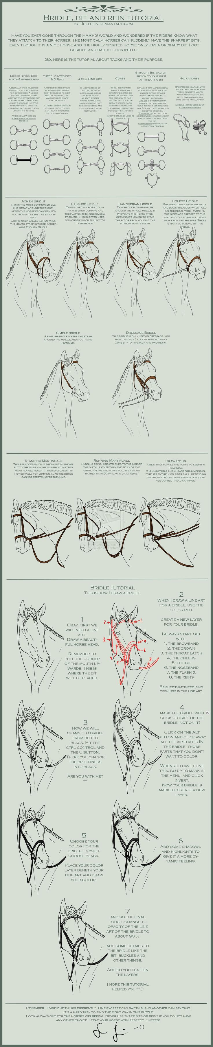 Bridle, Bit and Reins Tutorial by Jullelin on deviantART