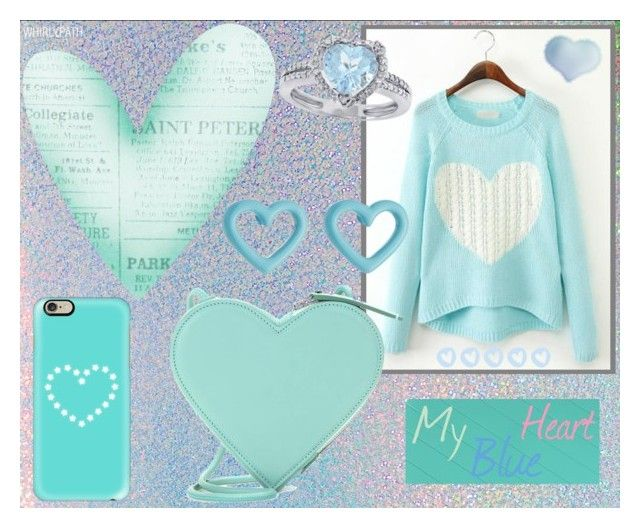 My Blue Heart! by whirlypath on Polyvore featuring Christopher Kane, Marc by Marc Jacobs and Casetify