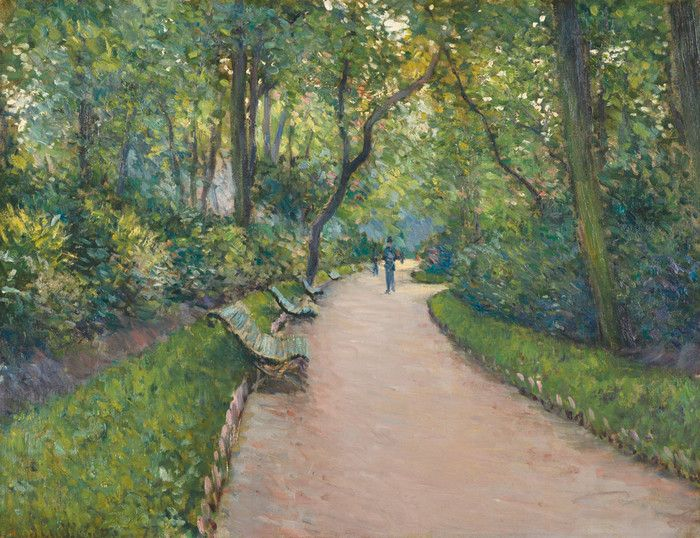 Park Monceau by Gustave Caillebotte | Art Posters