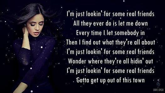 Watch Camila Cabello Real Friends Lyrics By Videoboztr On