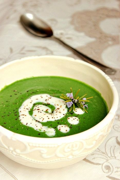 giroVegando in cucina: Vellutata di spinaci e rosmarino (Cream of Spinach soup…