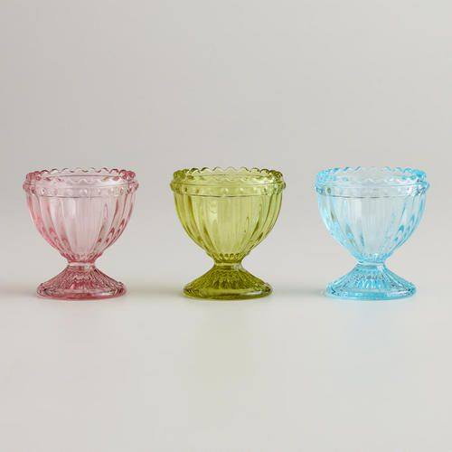 One of my favorite discoveries at WorldMarket.com: Fluted Glass Egg Cup, Set of 3