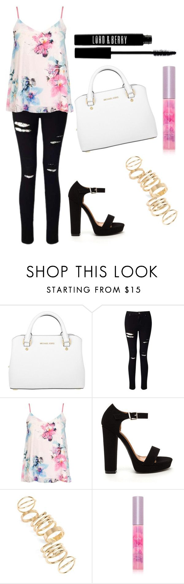 """""""Cute"""" by electraz on Polyvore featuring Michael Kors, Miss Selfridge, Dorothy Perkins, BP., tarte and Lord & Berry"""