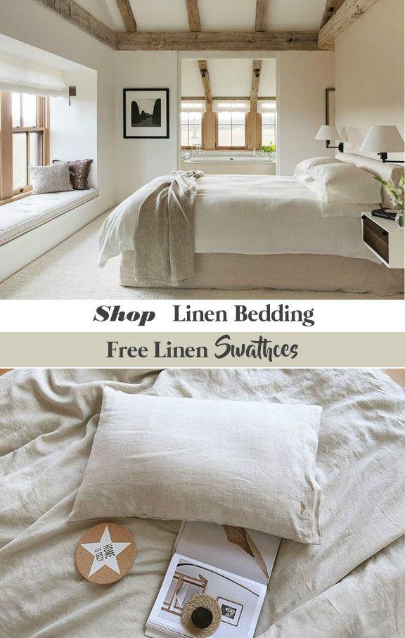 Natural Linen Duvet Cover Box Spring Cover Bed Skirt Bed Sheets
