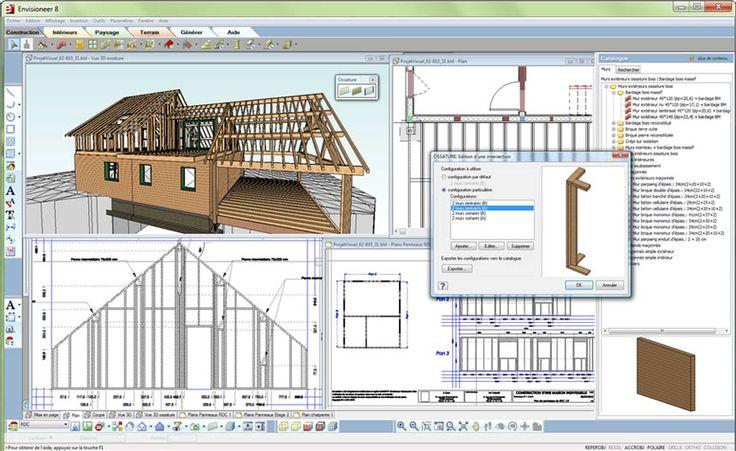 Logiciel de CAO 2D/3D de construction en bois - A.DOC - Envisioneer construction bois