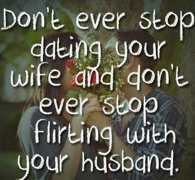 Great advice for whatever stage you are in your marriage.