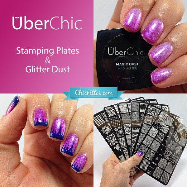 UberChic Beauty Stamping Plates, Glitter Dust & Magic Dust