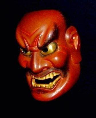#Shikami, usata per rappresentare divinità arrabbiate o spiriti malvagi #maschera #teatrogiapponese From Glob-Arts