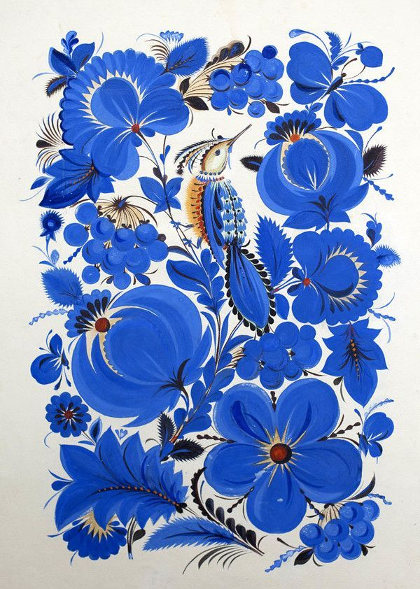 Василь СОКОЛЕНКО folk floral pattern