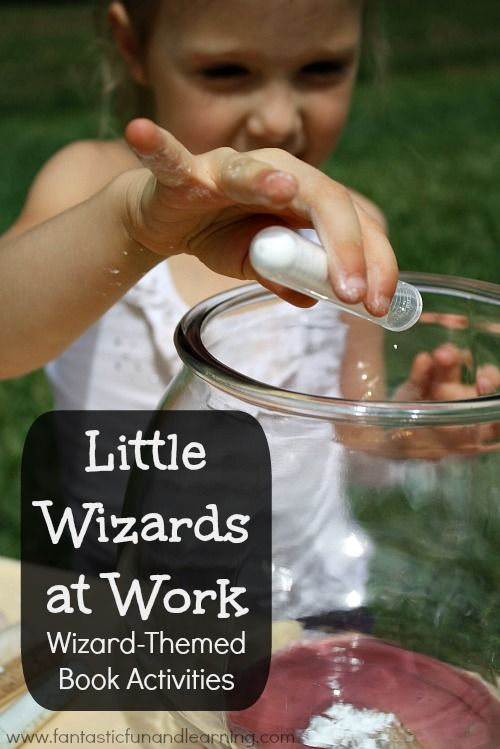 Little Wizards at Work...Mixing potions preschool science activity using materials you already have around the house