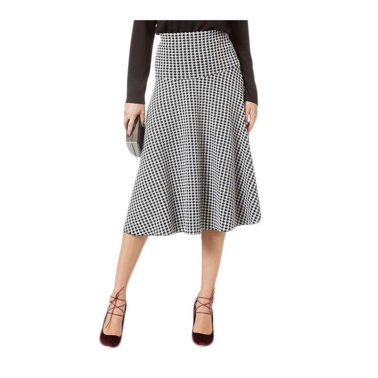 RAXSTA Ψηλόμεση ασπρόμαυρη κλοσσαριστή φούστα