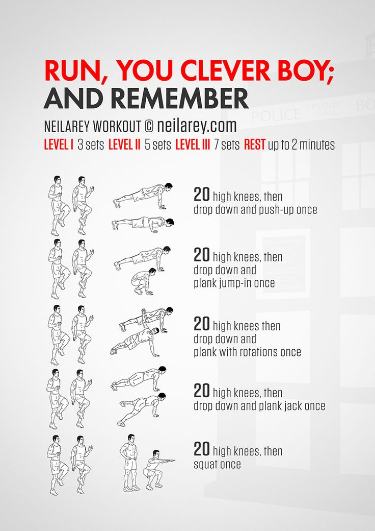 No-equipment Doctor Who workout for all fitness levels. Print & use.
