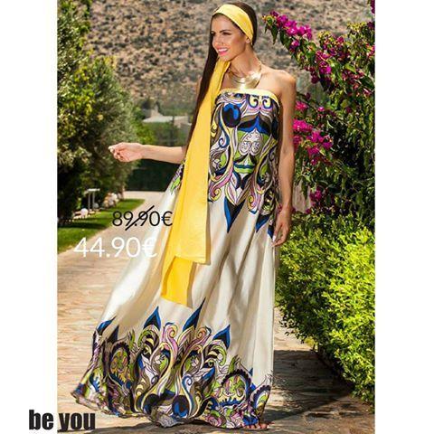 Summer on our minds... Φόρεμα > http://goo.gl/E3jdFl #dress #maxidress #colors #summer #sale #beyoucomgr